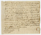 Document : Promissory note for Fairfax's pew at True Parish, 24 February 1774